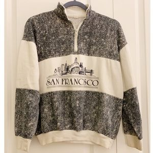 Vintage Sam Francisco 1/2 Zip Pullover